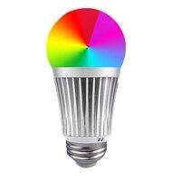 Fcmila Smart LED Bulb WiFi Lights Multicolored E27 E26 E14 B22 LED Lamps Dimmable Daylight Home Lighting Compatible with Alexa
