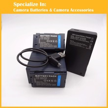 High capacity camcorder 2pcs battery + charger CGR-D54 CGA-D54S VW-VBD55 CGR D54 for AG-DVC60 AG-DVX100 AG-DVC30 AG-DVX100A