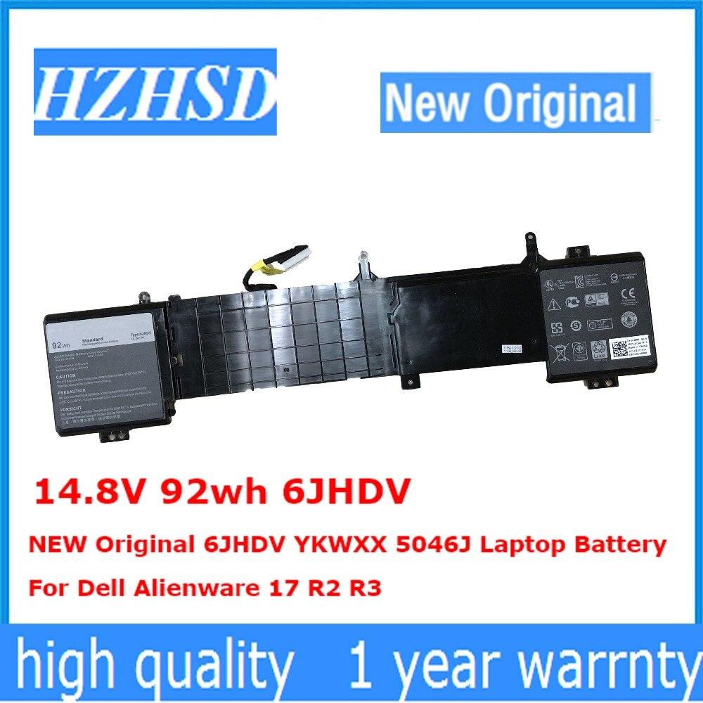 14.8 V 92wh 6 JHDV NOUVEAU Original 6 JHDV YKWXX 5046J batterie d'ordinateur portable Pour Dell Alienware 17 R2 R3
