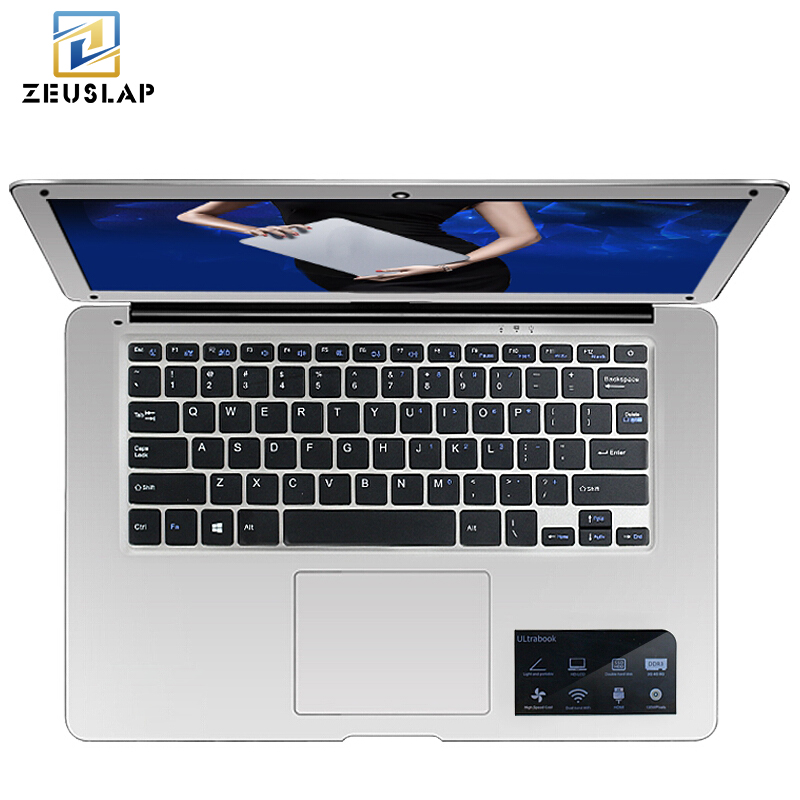 ZEUSLAP-A8 14 inch ультратонкие 8 ГБ Оперативная память + 256 ГБ SSD Windows 10 Системы Intel 4 ядра 1920x1080 P FHD ноутбука Тетрадь компьютер