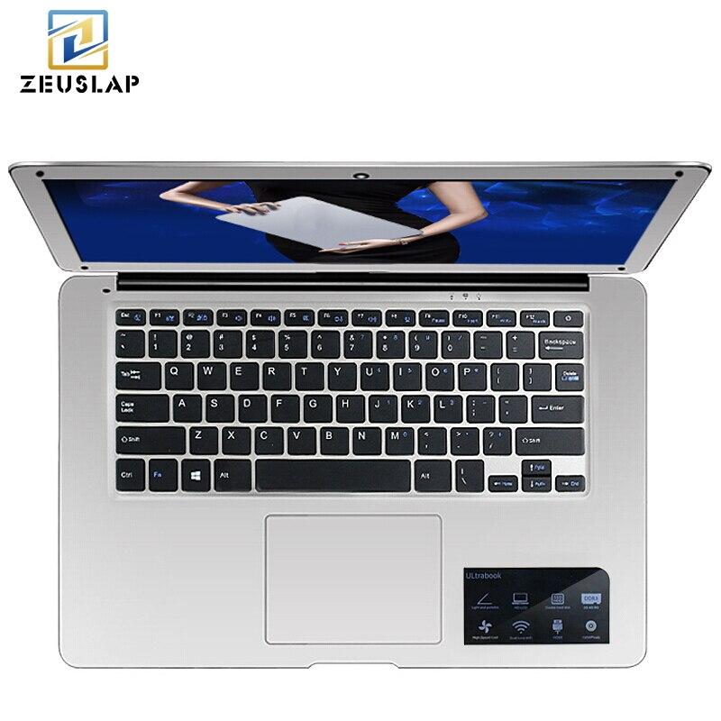 ZEUSLAP-A8 14 pouces Ultraslim 8 gb RAM + 256 gb SSD Windows 10 Système Intel Quad Core 1920x1080 p FHD Ordinateur Portable Ordinateur portable