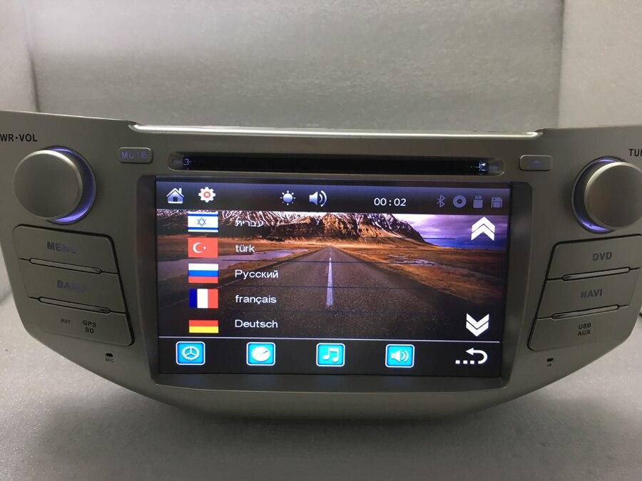 Livraison gratuite 7 pouces autoradio 2 Din lecteur DVD pour LEXUS RX300 RX330 RX350 RX400H GPS Navigation dans tableau de bord voiture PC stéréo TV carte