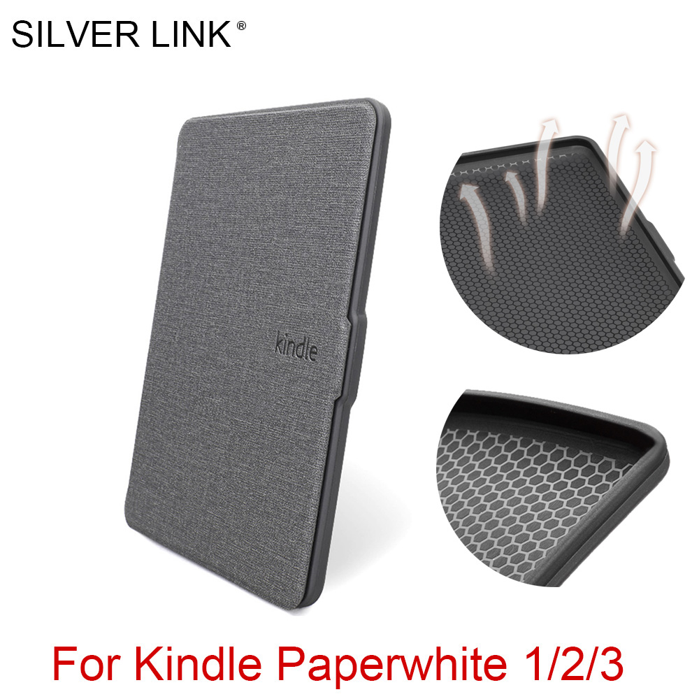 SILVER LINK Kindle Case Soft Silicon Skin Cover For Amazon Kindle Paperwhite 1/2/3 E-Book Auto Sleep/Wakeup Dissipate Shell kindle paperwhite 1 2 3 case e book cover tpu rear shell pu leather smart case for amazon kindle paperwhite 3 cover 6 stylus