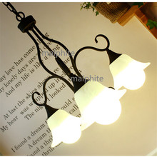 JAXLONG Pastoral Glass Pendant Lamp Living Room Bedroom Hanglamp Modern Home De Lighting Lights Kitchen LED Hanging