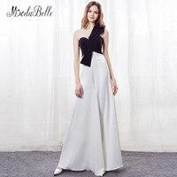 Modabelle элегантный Для женщин вечернее платье черный, белый цвет шифон Длинные брюки Костюмы невесты вечернее платье вечернее Нарядное плать