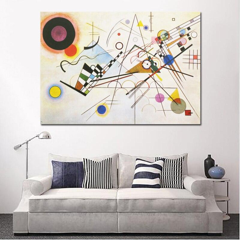 US $6.71 52% OFF|RELIABLI KUNST WASSILY KANDINSKY Abstrakte Kunst Leinwand  Malerei Wand Kunst Für Wohnzimmer Schlafzimmer Moderne Dekorative Bilder ...