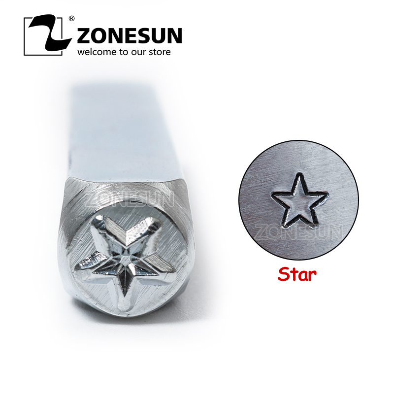 ZONESUN Star Jewelry Stamping Metal Alphabet LOGO Steel Stamps Mold Marking Tool Punch Die For Gold Ring Bracelet Necklace|Food Processors| |  - title=