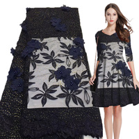 African lace fabric 2019 high quality lace embroidered tulle lace fabric Nigeria lace 042455