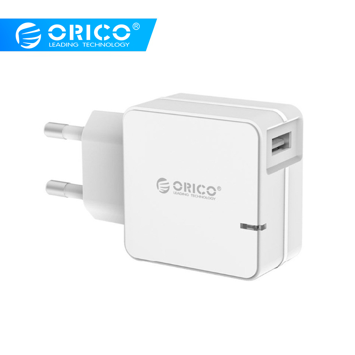 ORICO QCW-1U Quick Charge 2.0 Fast Mobile Phone Charger USB Travel Charger For Samsung S5 S6 LG With 80CM Micro USB Cable