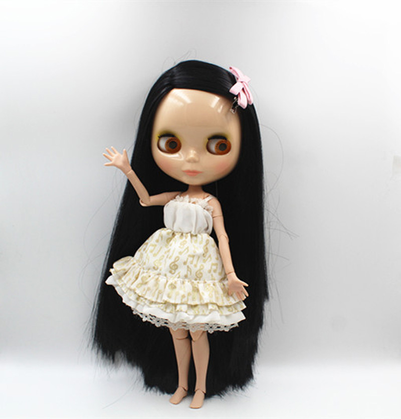 Free Shipping BJD joint RBL-369J DIY Nude Blyth doll birthday gift for girl 4 colour big eyes dolls with beautiful Hair cute toy цены