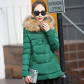 2016 Slim Double Breasted Waist Down Cotton Dress Down Parka Coat Winter Jacket Womens Winter Jackets Winter Coat