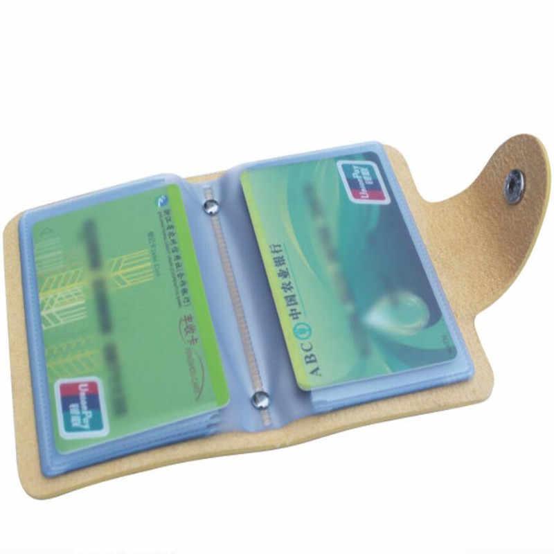24 Kaartsleuven Dubbelzijdig Plastic Kaarthouder Kleine Size Multicolor Business Pack Bus Kaart Zak Vrouwen Portemonnees Mannen Portemonnee
