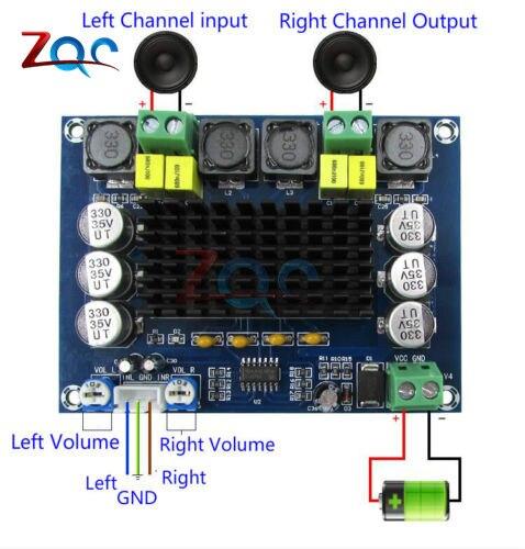 XH-M543 TPA3116D2 Dual-kanal Stereo High Power Digital Audio Power Verstärker Bord 2*120W DC 12V -24V
