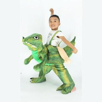 Svitania Children Cosplay Dinosaur Piggyback Kids Riding on Costume Set Children Halloween Party Costume S/M/XL
