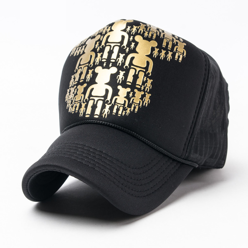 2016 Summer New Pattern Men And Women Lovers Little Bear Reinforced Cap Truck Trucker Hats