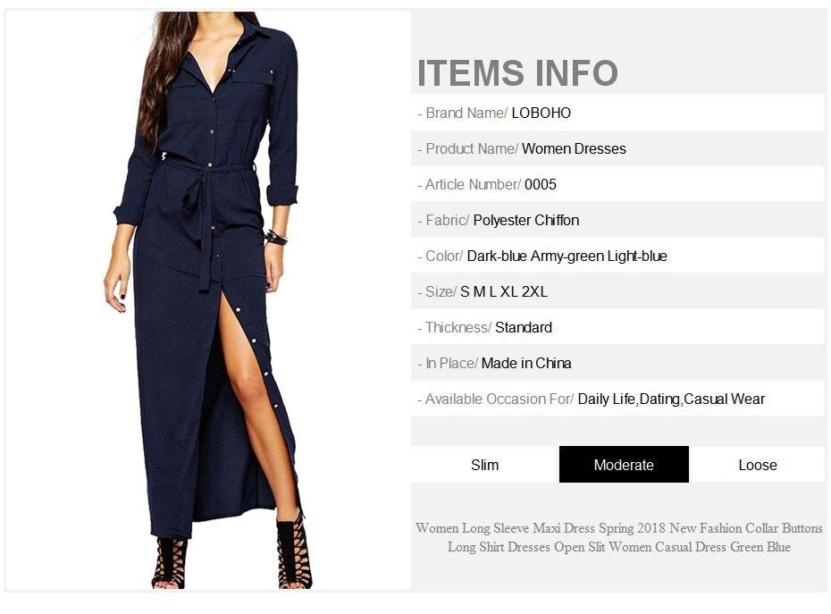 210aee609bcd ... Buttons Long Shirt Dresses Open Slit Women Casual Dress Green Blue. 7