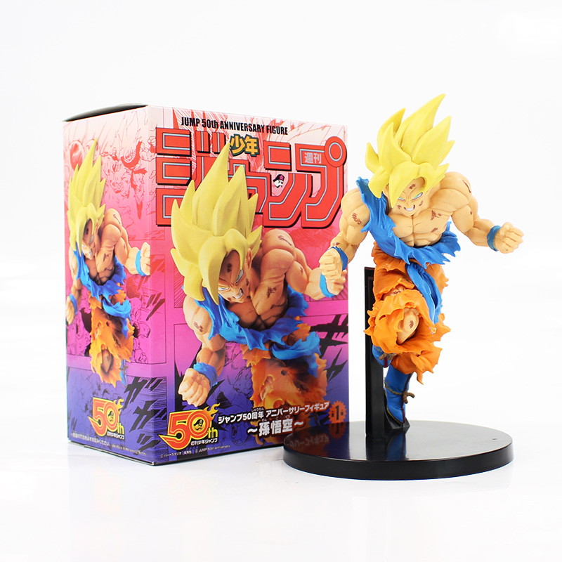"100/% authentic Jump 50th Anniversary Dragonball Goku 7/"" PVC Figure Banpresto"