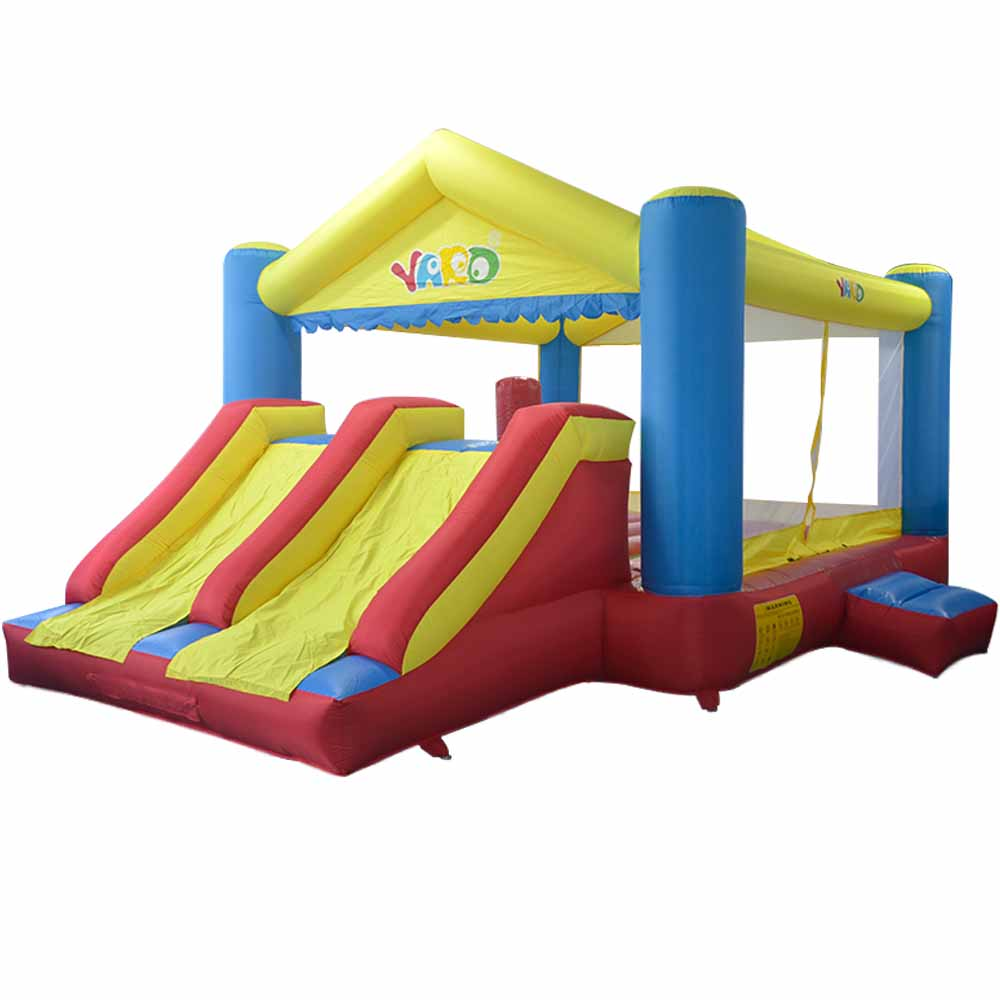 YARD Inflatable Trampoline Outdoors Games For Children Free PE Balls Inflatable Bouncer Castle Double Slides House Use Blower yard inflatable games castle bouncer house jumping slides free pe balls inflatabletrampolines oxford pvc kids children bouncer