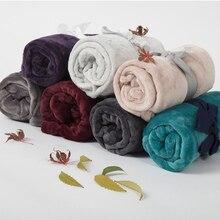 Manta de franela de Color liso de lana de Coral, mantas para adultos, sofá, sofá, manta de verano de invierno, colcha para niños en la cama