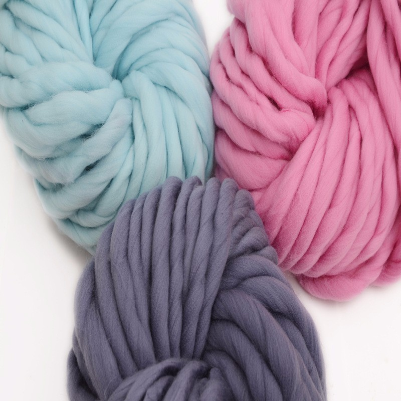 mylb 1pcs/250 Super Thickness Viscose Chunky Yarn Roving Yarn for Spinning Hand Knitting Spin Yarn Winter Warm free shipping
