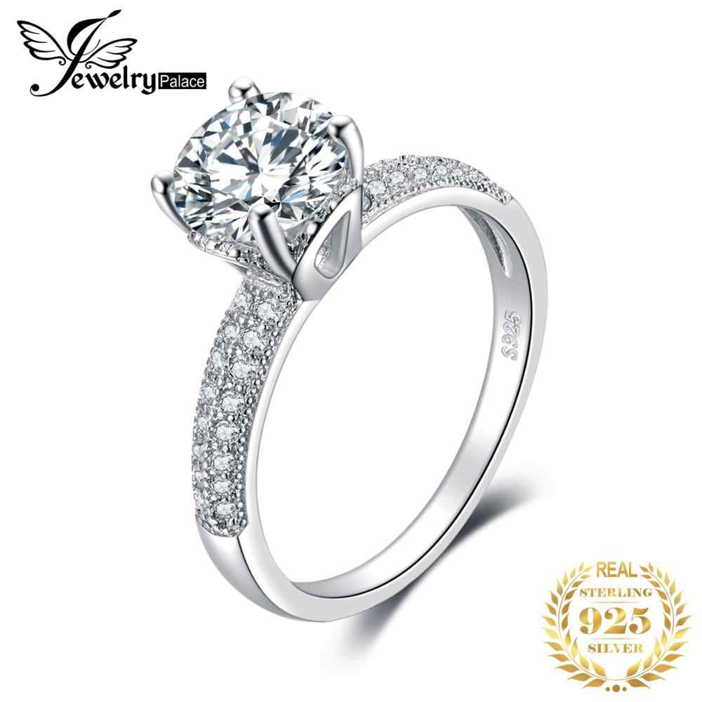 JewelryPalace Infinity Forever Love ครบรอบ Cubic Zirconia แหวนนิ้วมือแท้ 925 Sterling Silver Valentine ของขวัญ