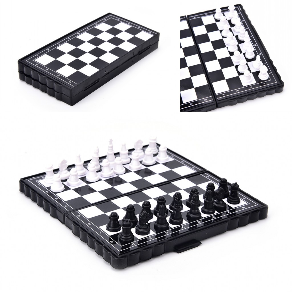 New Magnetic folding chess board portable set with pieces games sport camping