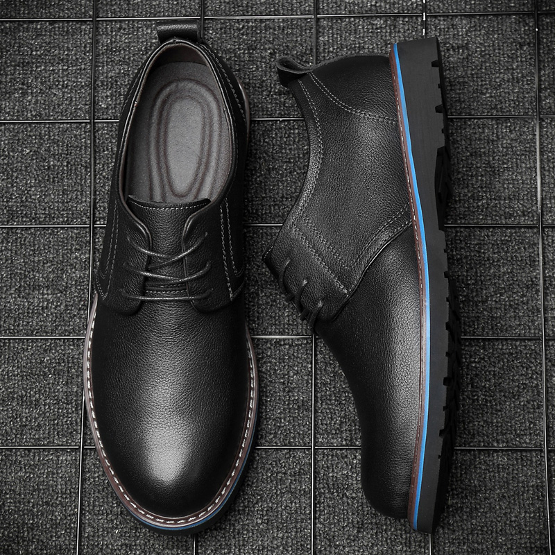 Formal Shoes Men Genuine Leather Oxford Shoes For Men Black 2019 Dress Wedding Shoes Lace Up