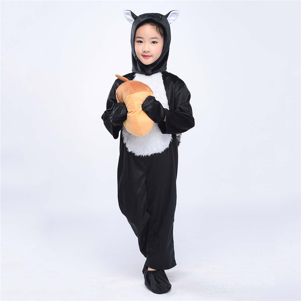 baby cozy deer costume source kids kitten costume black squirrel cosplay animal onesies fancy