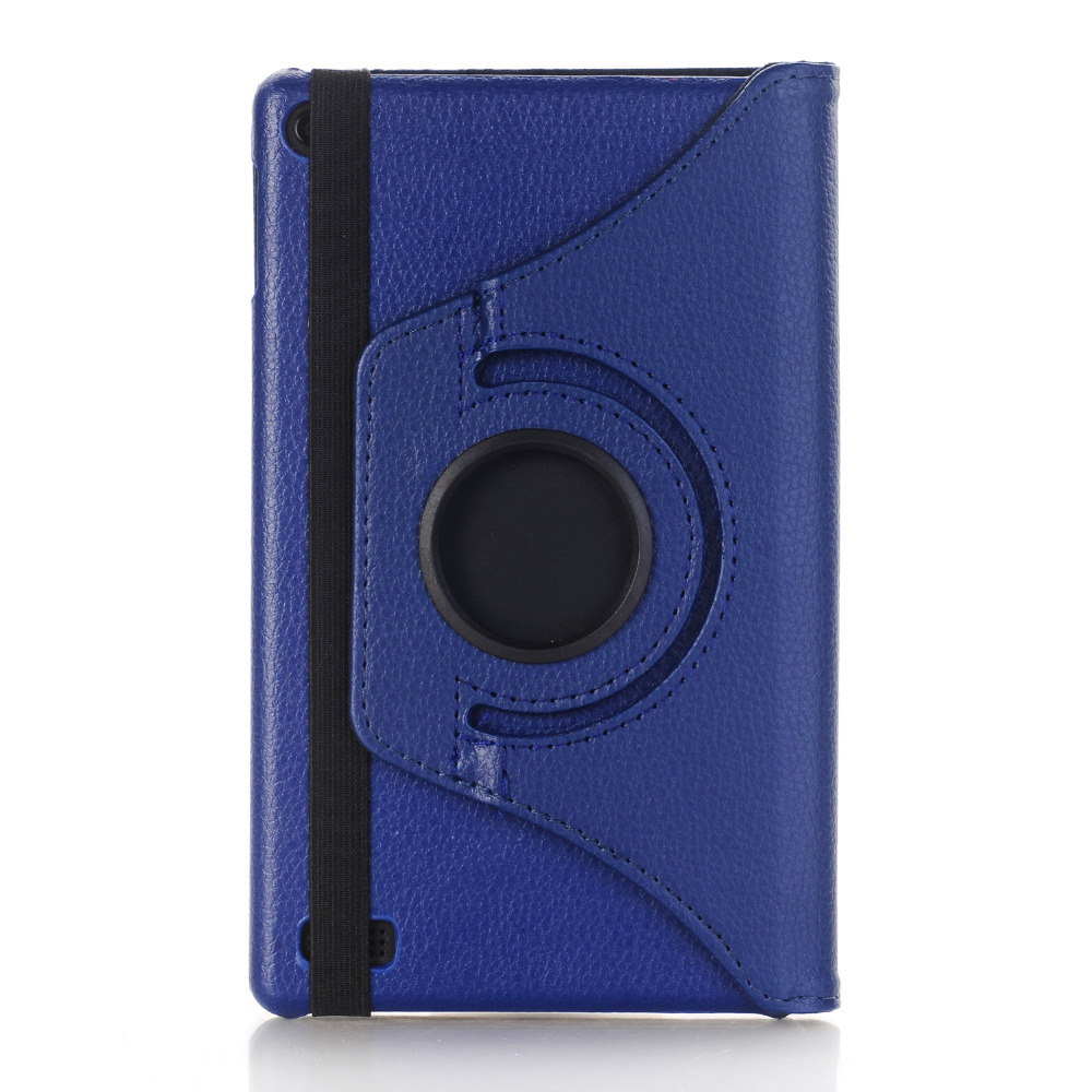 Rotary 360 Degree Rotating Litchi Folio Stand PU Leather Cover Funda Protector Case For Amazon Kindle Fire HD 7 2017 7