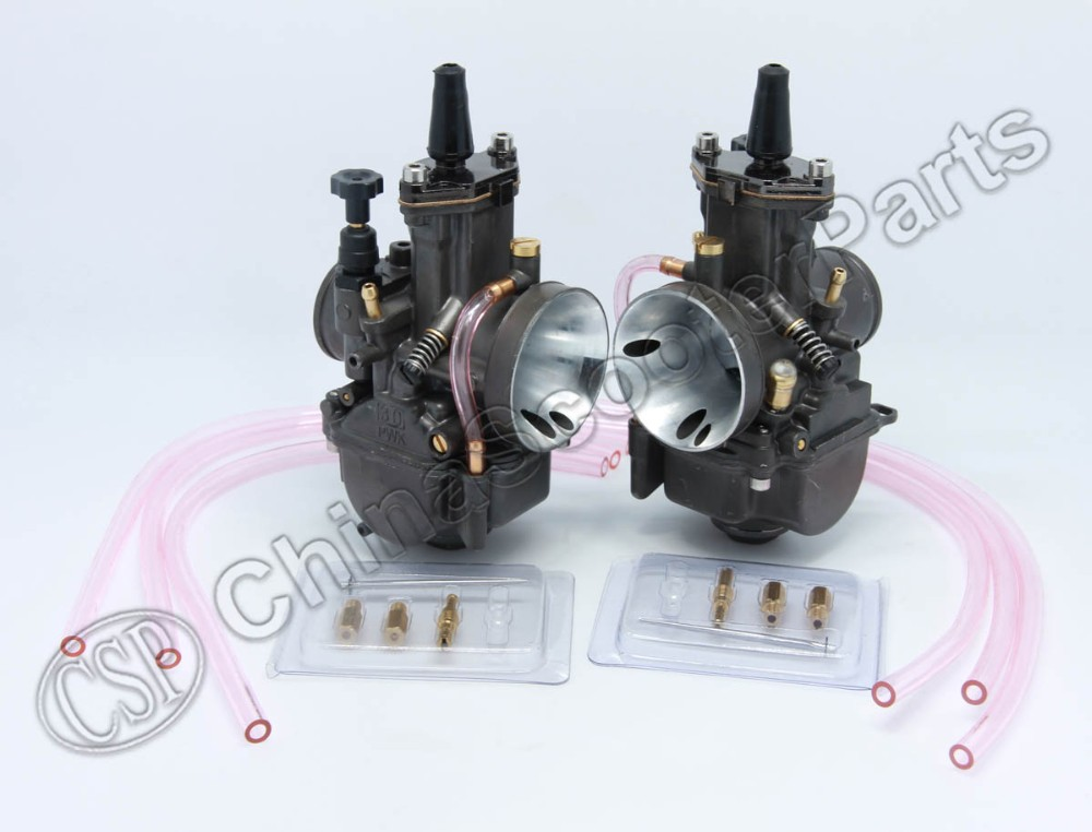 PWK PWK34 Carburetor 34 34MM Dual Set For Yamaha XS650 Keihin Carb carb carburetor 36mm pwk fit ktm 2008 2015 250 300 xc xcw sx 2 strokes keihin