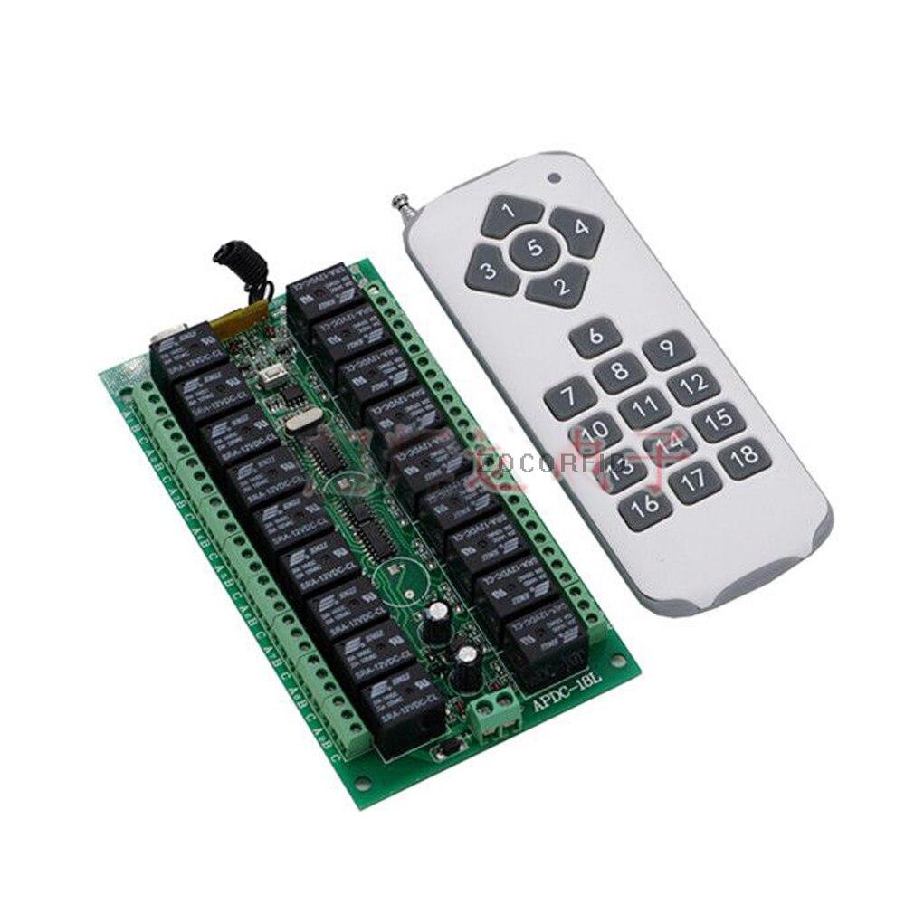 18 charges DC24V relais récepteur émetteur lampe de lumière interrupteur de télécommande LED alimentation sans fil ON OFF clé interrupteur verrouillage déverrouillage