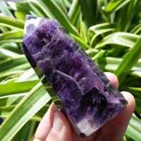TOP!!!!!! Rêve naturel améthyste QUARTZ cristal baguette POINT de guérison