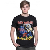 2017 Summer New 3D Iron Maiden The Number Of THe Beast Death Metal Rock Men T