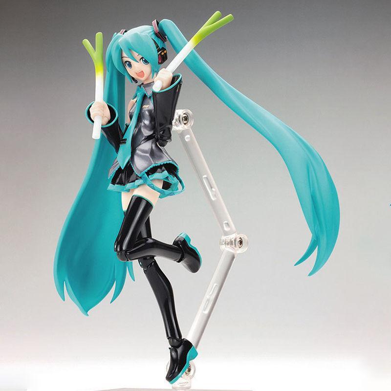 Hatsune Miku 1/8 Scale Figurine  PVC Manga Dolls Muilticolor Action Figure Toy With Green Onion Microphone стоимость