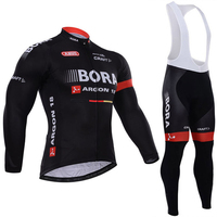 New Winter Fleece Thermal Cycling Team Bora Cycling Jersey Wear Clothing Maillot Ropa Ciclismo Mtb Bike