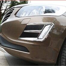 Бесплатная доставка Высокое качество ABS хромированные передние противотуманные фары Накладка противотуманная фара Накладка для Volvo XC60 XC 60
