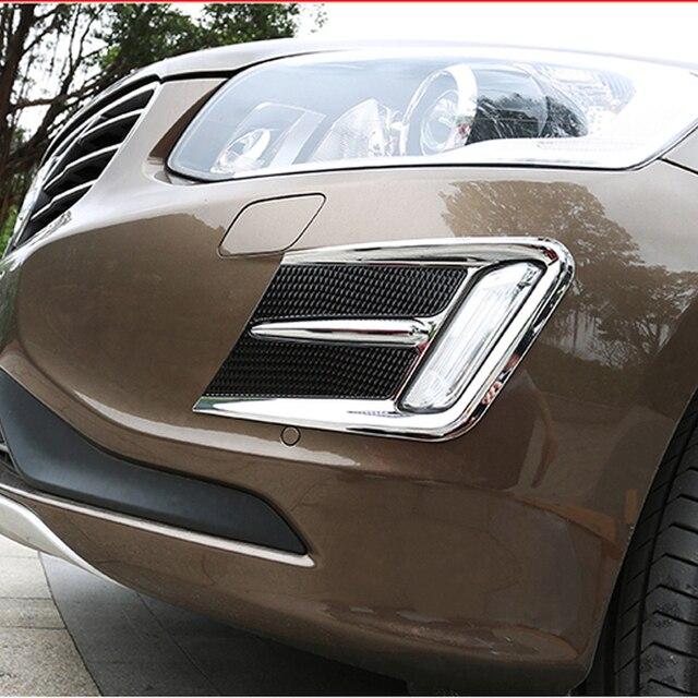 Ücretsiz Kargo Yüksek Kalite ABS Krom Ön Sis lambaları kapak Trim Sis lambası gölge Trim Volvo XC60 XC 60