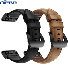 Leather Watchband 20mm 22mm 26mm for Garmin Fenix 5/5X/5S smart watch Quick Release Band Wrist strap
