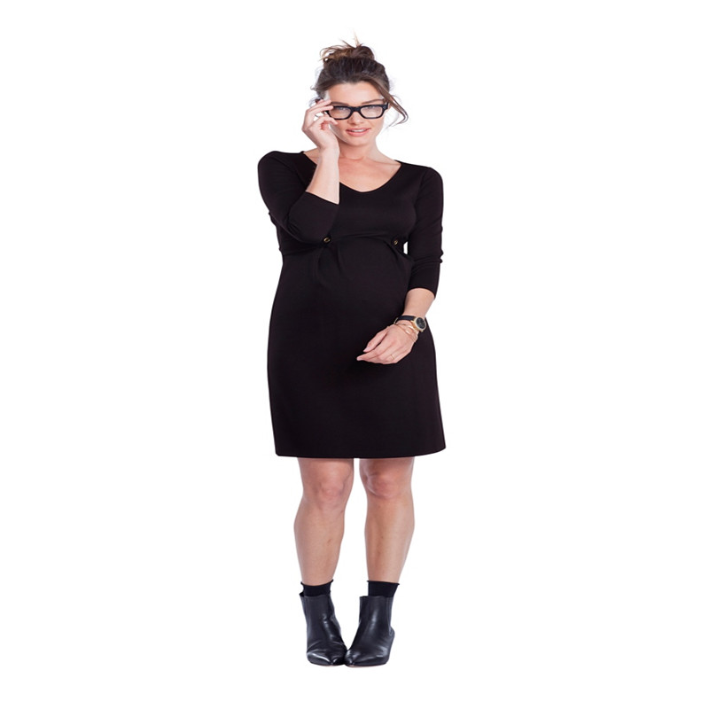 Maternity Women Dress Summer 3/4 Sleeve V-neck Knee Length Dress New Moms Solid Color Fashion Waist Sashes DressesMaternity Women Dress Summer 3/4 Sleeve V-neck Knee Length Dress New Moms Solid Color Fashion Waist Sashes Dresses