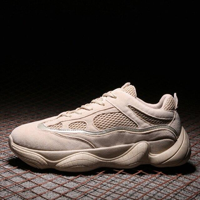 Винтаж папа кроссовки 2018 Канье Уэст модные сетчатые легкая дышащая мужская повседневная обувь tenis кроссовки zapatos hombre #500