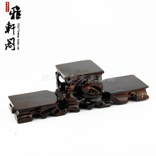 Red solid wood base teapot stone crafts decoration pallets