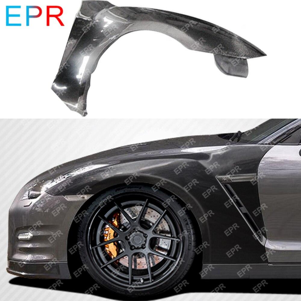 For Nissan GTR R35 OEM Carbon Fiber Front Fender (with Fender Vents) Body Kit Tuning Part For R35 GTR Fender
