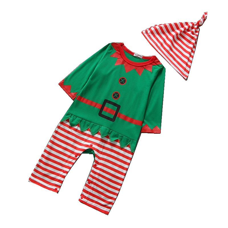 Long Sleeve Christmas Jumpsuits Hats Baby Boy Clothes Fantasias Infantil Roupas De Bebe Overalls Christmas Costumes For Boys cotton baby clothing long sleeve baby romper girls boys clothes roupas de bebe infantil newborn costumes rompers jumpsuits set