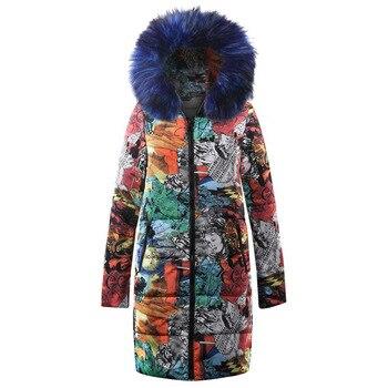 Abrigo de algodón de Invierno para mujer abrigo cálido al aire libre Chaqueta de algodón acolchado ropa de viento de la nación