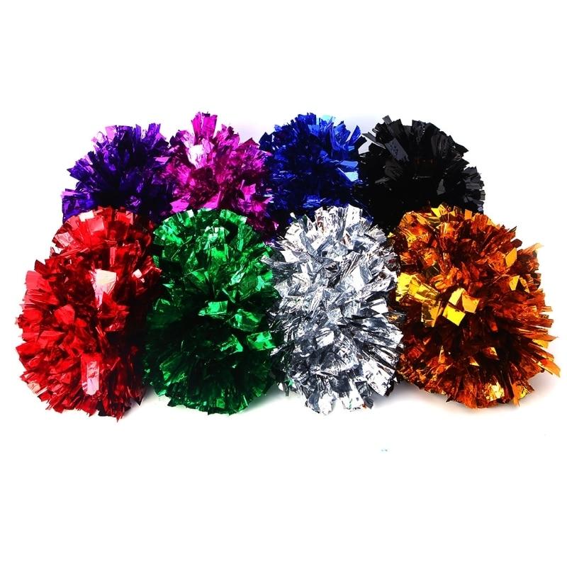 Handheld Pom Poms Cheerleader Cheerleading Cheer Dance Party Football Club Decor