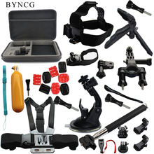 BYNCG for Gopro Tripod Accessories Set Go Pro Kit Mount for SJ4000 GoPro Hero 5 4 3 Black Edition Camera Case Xiaomi yi Eken H9