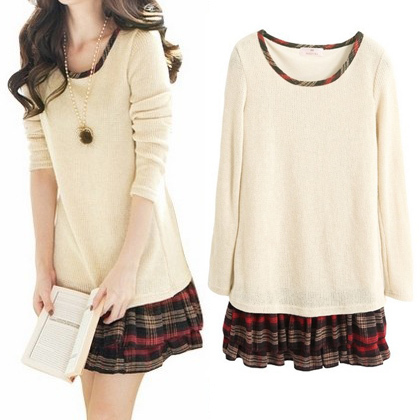 2 piece dress long sleeve shirts