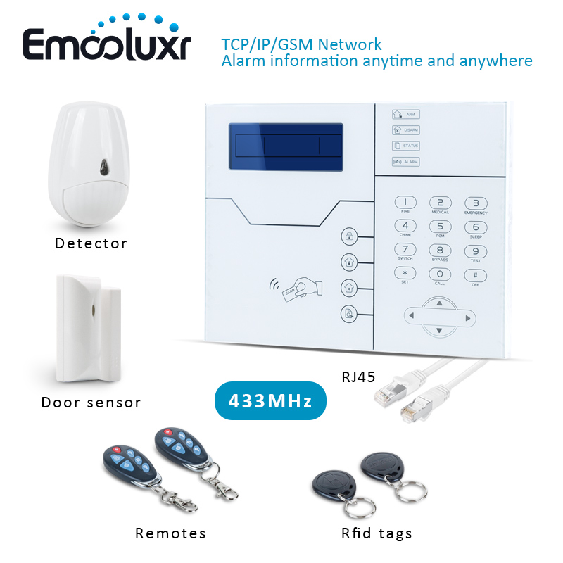 2017 Hot Sell Network Alarm ST-VGT TCP/IP GSM Burglar Alarm Security System With Web IE Brouse and Android IOS App Control biometric face and fingerprint access controller tcp ip zk multibio700 facial time attendance and door security control system