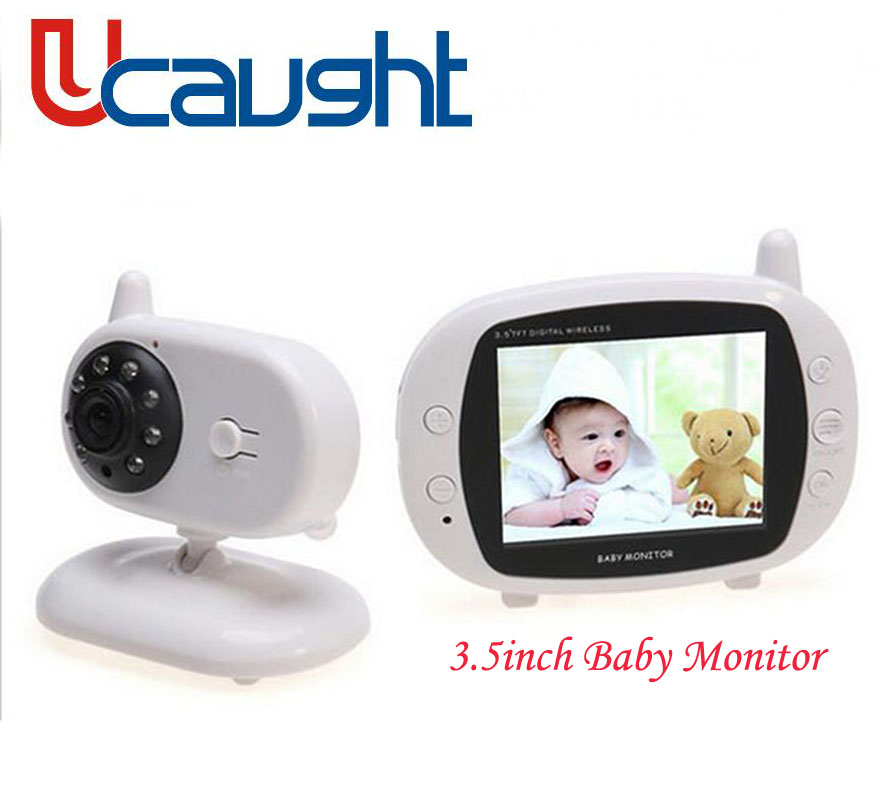 New 3.5 inch Color Video Wireless Baby Monitor 2 Way Talk IR LED Temperature Baby Camera Monitoring with 8 Lullabies Nigh Vision