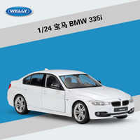 WELLY 1:24 High Simulation Classical Diecast Vehicle BMW335i/535i Metal Alloy Model Car For Boy Children Gift Toy Car Collection